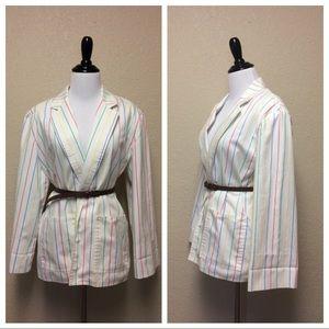{The Fox Collection} vintage striped blazer
